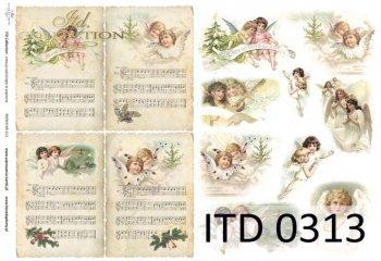Decoupage paper ITD D0313