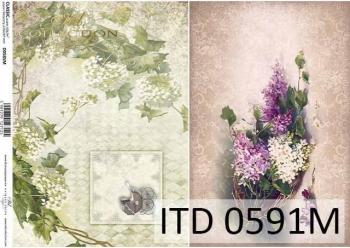 Decoupage paper ITD D0591M