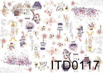 Decoupage paper ITD D0117