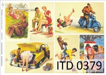 Decoupage paper ITD D0379M