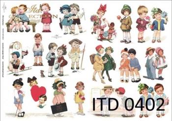 Papier decoupage ITD D0402M