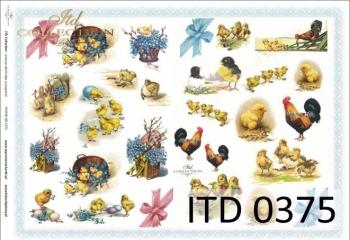 Papier decoupage ITD D0375