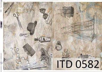Papier decoupage ITD D0582