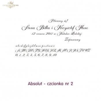Czcionka na zaproszenie 02