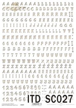 Papier scrapbooking SC0027