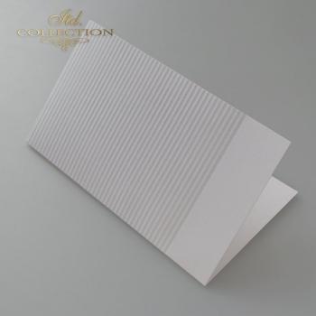 Baza do kartki BDK-026 - 185x107 mm * jasnoszara, tłoczone paski