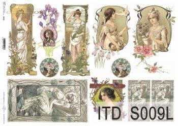 Papier decoupage SOFT ITD S0009L
