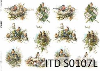 Papier decoupage SOFT ITD S0107L