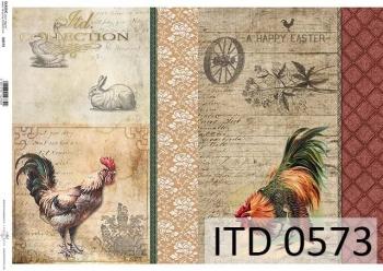 Papier decoupage ITD D0573