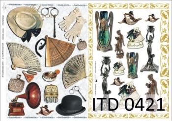 Papier decoupage ITD D0421