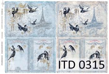 Papier decoupage ITD D0315