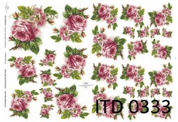 Papier decoupage ITD D0333