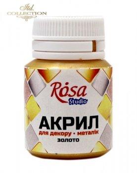 Farba akrylowa ROSA 20 ml złota 54