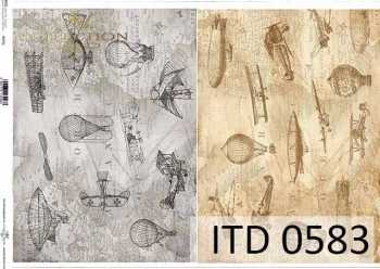 Papier decoupage ITD D0583