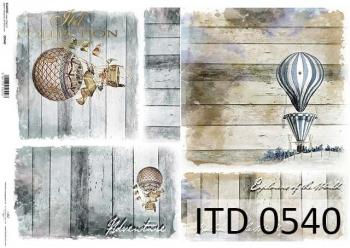 Papier decoupage ITD D0540
