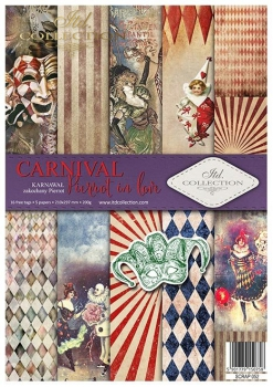 Papier do scrapbookingu SCRAP-052 ''Carnival - Pierrot in love''