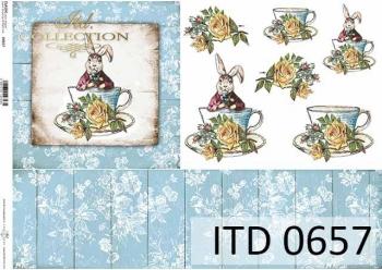 Papier decoupage ITD D0657
