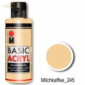 Farba akrylowa Basic Acryl 80 ml Milchkaffee 245