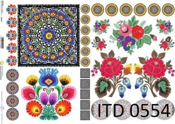 Papier decoupage ITD D0554