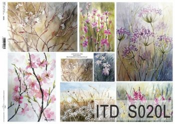 Papier decoupage SOFT ITD S0020L