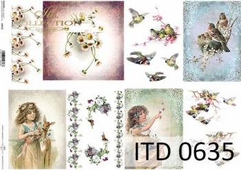 Papier decoupage ITD D0635