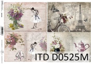 Papier decoupage ITD D0525M