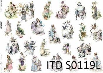 Papier decoupage SOFT ITD S0119L