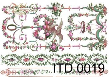Papier decoupage ITD D0019