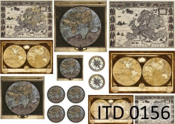Papier decoupage ITD D0156