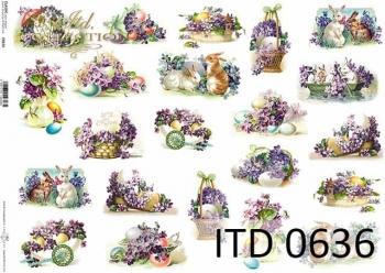 Papier decoupage ITD D0636