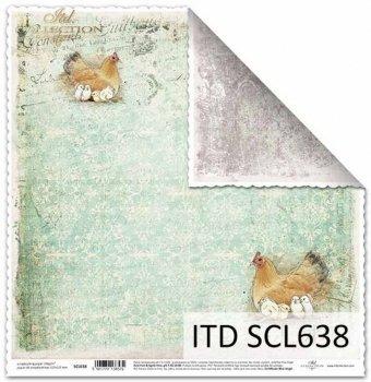 Papier scrapbooking SCL638