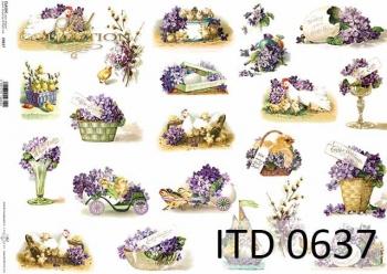Papier decoupage ITD D0637