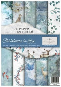 Zestaw kreatywny ITD RS016 Święta w błękicie
