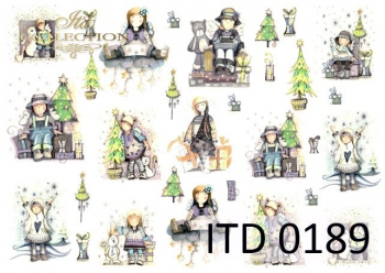 Papier decoupage ITD D0189M