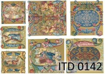 Papier decoupage ITD D0142