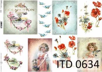 Papier decoupage ITD D0634