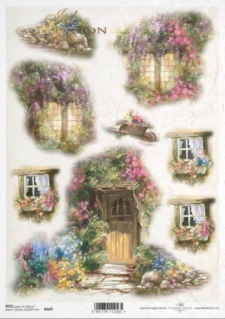window, windows, flower doors, small architecture, architectural elements, architectural details
