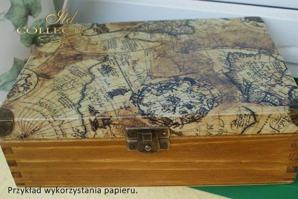 papier ryżowy decoupage - stare mapy * papel de arroz decoupage - mapas antiguos - example 01