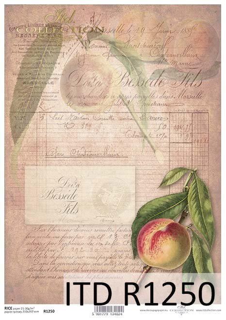 Papier decoupage owoce*Paper decoupage fruit