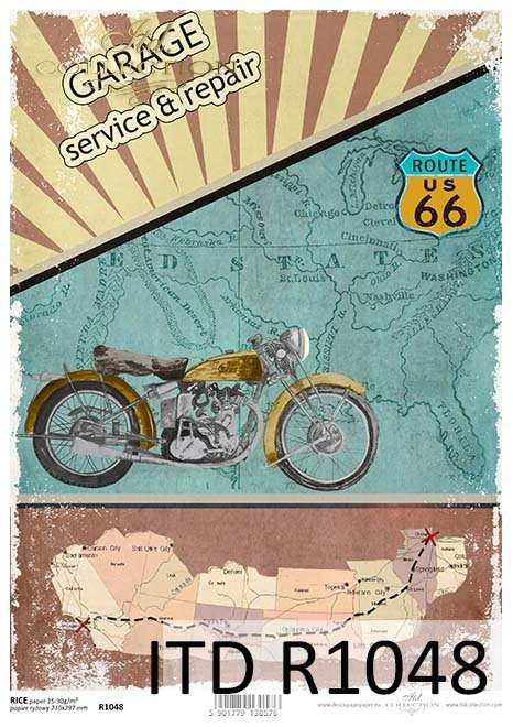 Papier ryżowy-podróże po Stanach*Rice paper-trips to the United