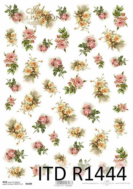 kolorowe kwiaty, herbaciane róże, różowe róże, łososiowe róże*colorful flowers, tea roses, pink roses, salmon roses