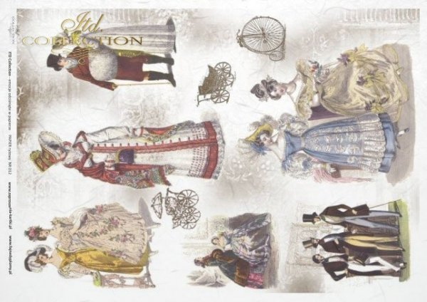 papel de arroz decoupage - sombreros, reuniones*rýžový papír Decoupage - klobouky, setkání*Reispapier Decoupage - Hüte, Treffen