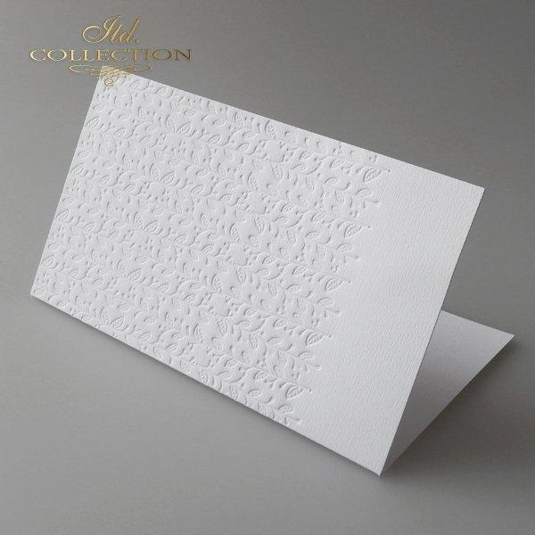 Basiskarten natürliche weiße Farbe. Größe 185x107 mm*Tarjetas base de color blanco natural. Tamaño 185x107 mm