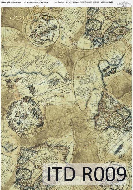 papier ryżowy decoupage - stare mapy*papel de arroz decoupage - mapas antiguos