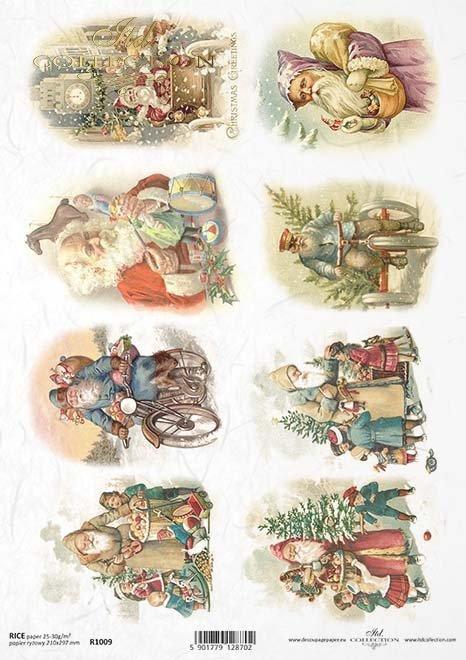 Christmas, Santa Claus, Grandpa Frost, gifts, R1009