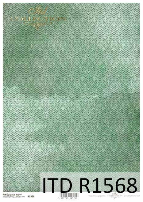 Papier decoupage zielone tło*Green decoupage paper background