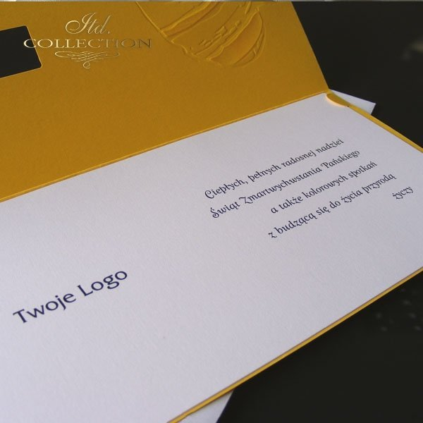 Пасхальная открытка с конвертом KW168