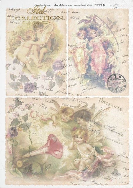 elves, vintage, flowers, old postcards, fairy tales, R345