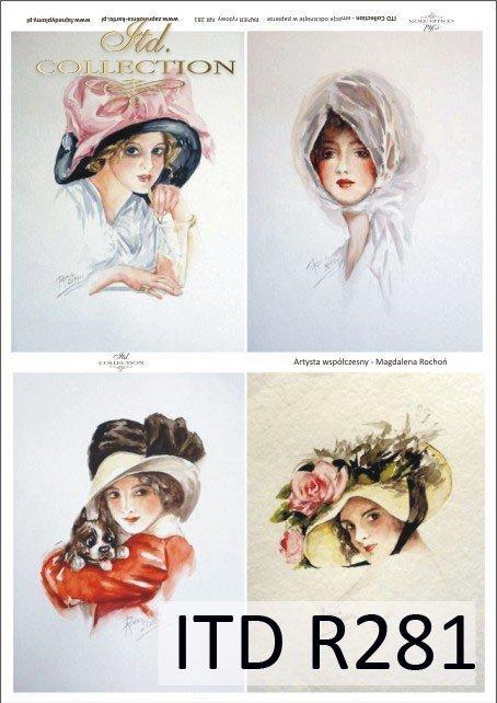 portret, portrety, kobiety, fryzura, fryzury, kapelusz, kapelusze, retro, dama, Magdalena Rochoń, R281