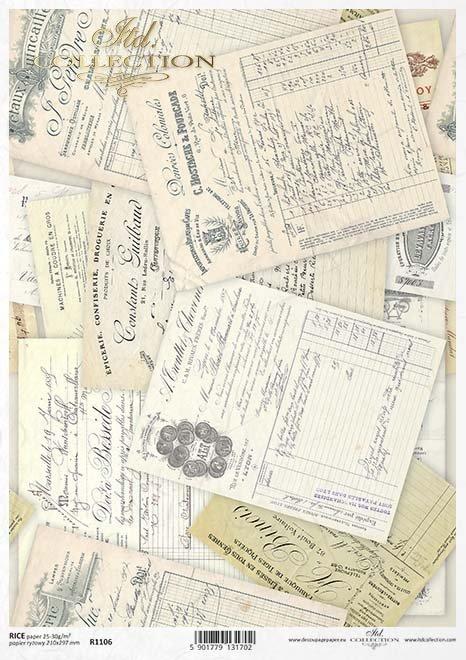 Papel especial para decoupage retro*Papír na decoupage retro*Papier für Decouper retro